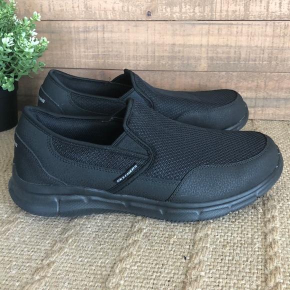 Skecher Street Size 10 Black Memory Foam Insoles Sneakers New Mens Shoes